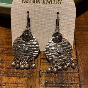 3/$10 NEW silver tone dangling earrings